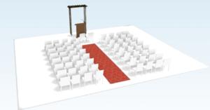 Disposition 1 de l'autel pour une cérémonie laïque