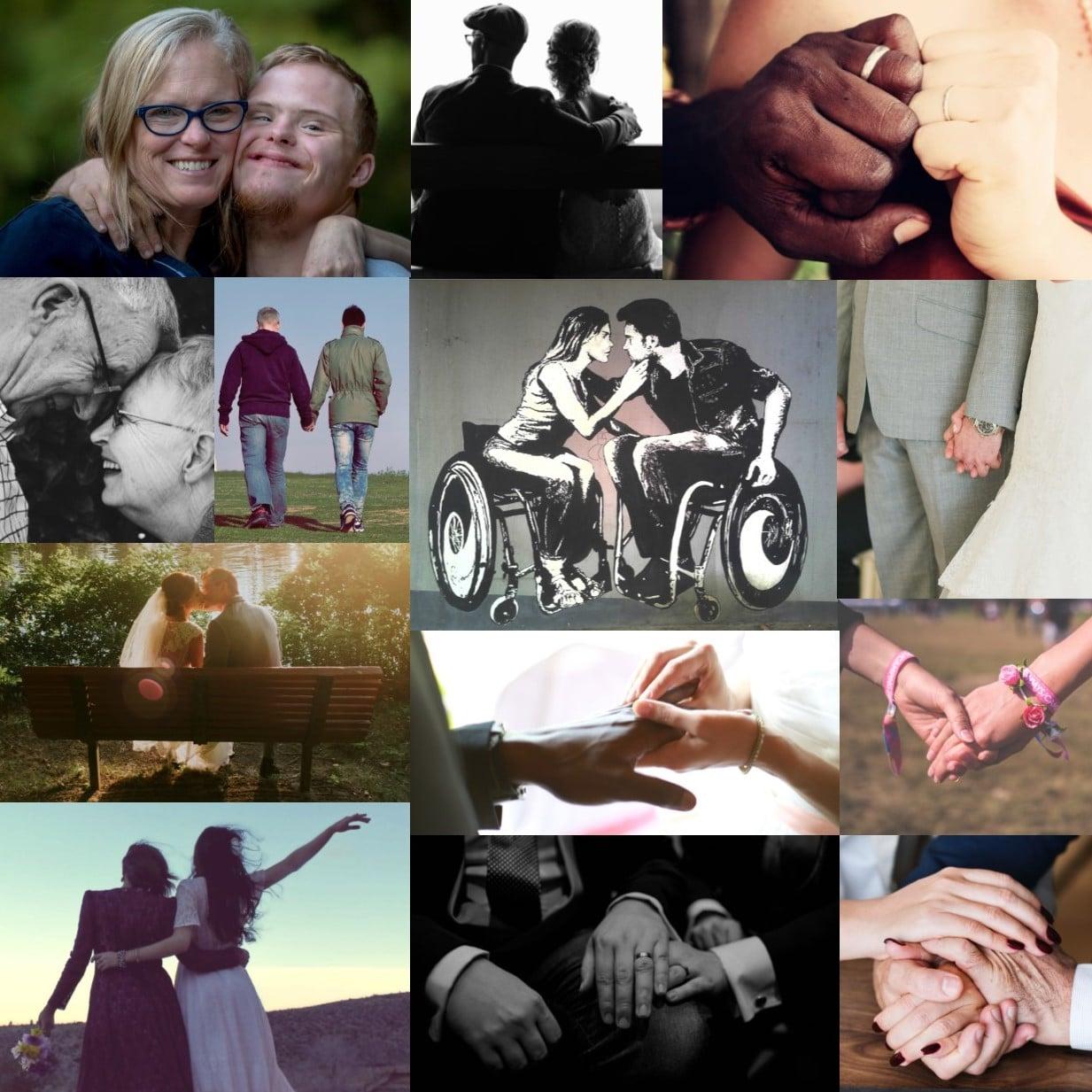 L'amour n'a pas d'âge, de sexe, de couleur de peau, d'origine, ni de religion. Il fait également fit des handicaps, des différences qu'il transforme souvent en forces. C'est ainsi que que je perçois l'amour qui lie les personnes qui s'unissent sous mes yeux lors qu'une cérémonie laïque